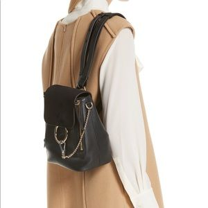 Chloe Bags - Chloé Small Faye & Suede Backpack